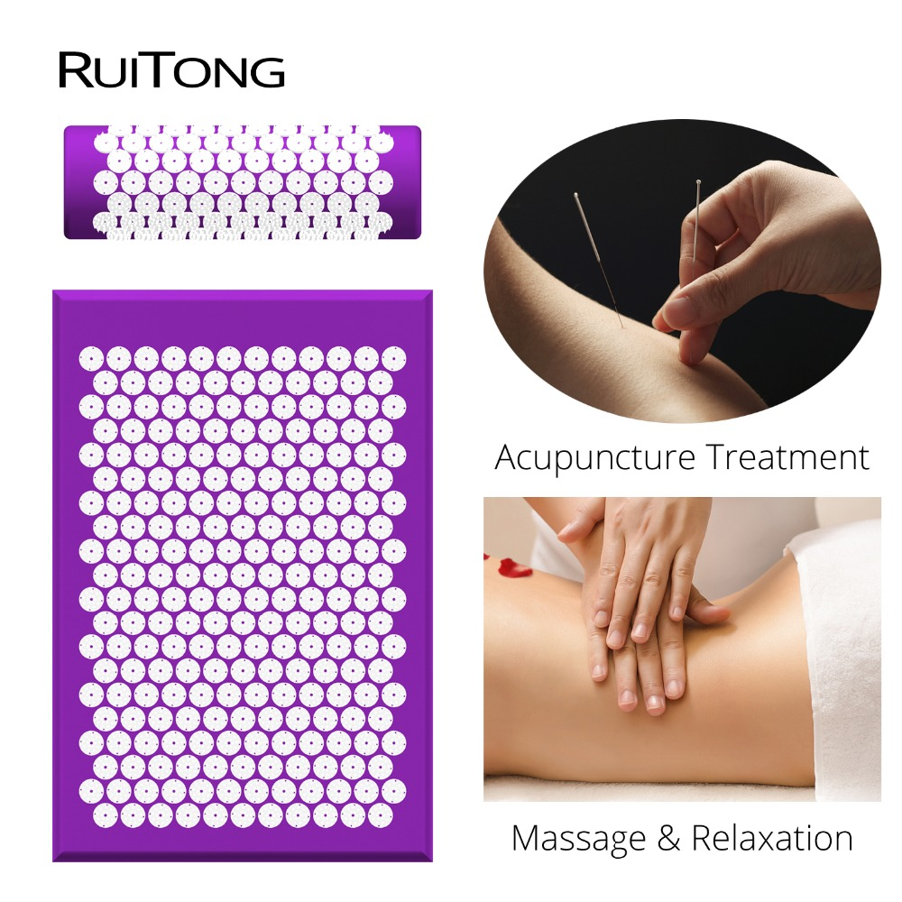 RuiTong Shakti Mat Massage acupuncture pillow Effective relief Back pain Neck pain 12 colors Massage mat for Dropshipping dynamic bodyuse for effective strain free massage