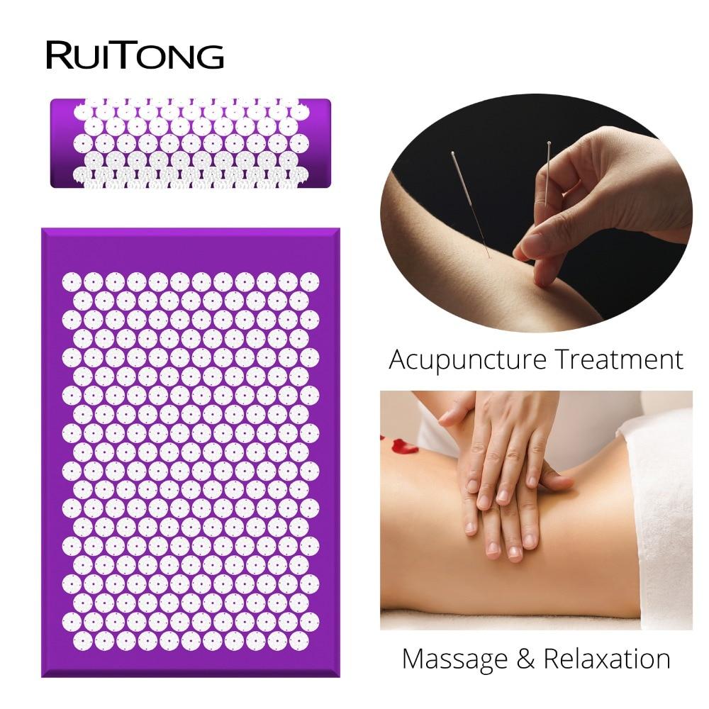 RuiTong Shakti Matte Massage akupunktur kissen Effektive relief Zurück schmerzen Hals schmerzen 12 farben Massage matte für Dropshipping