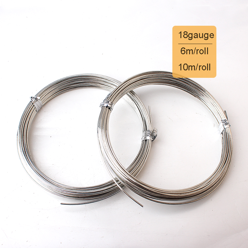 New Bright 10m or 6m Roll 1.0mm 18 Gauge Dia Silver Plated...