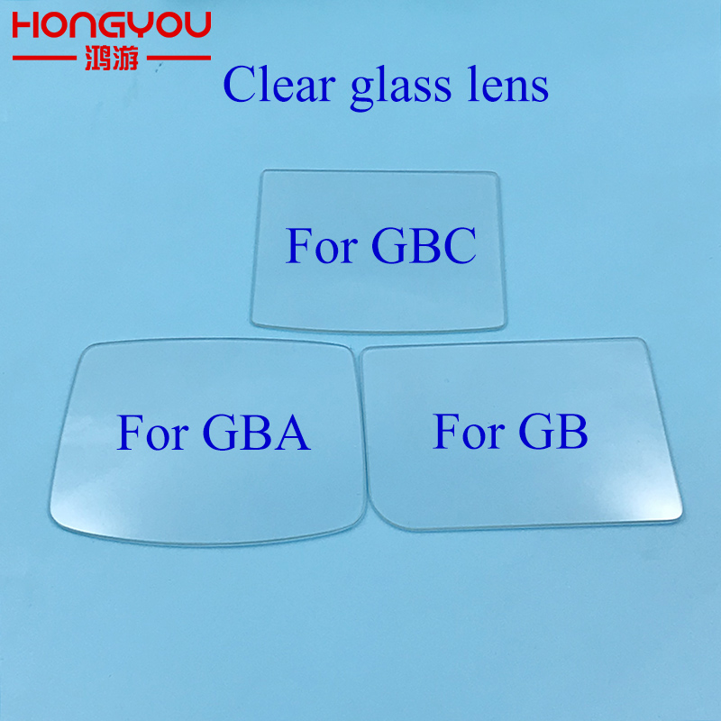 100PCS For GBA GBC GBA SP Transparent Glass Lens Glass Lens For Gameboy DMG Screen Glass Lens For Gameboy Advance Lens Protector