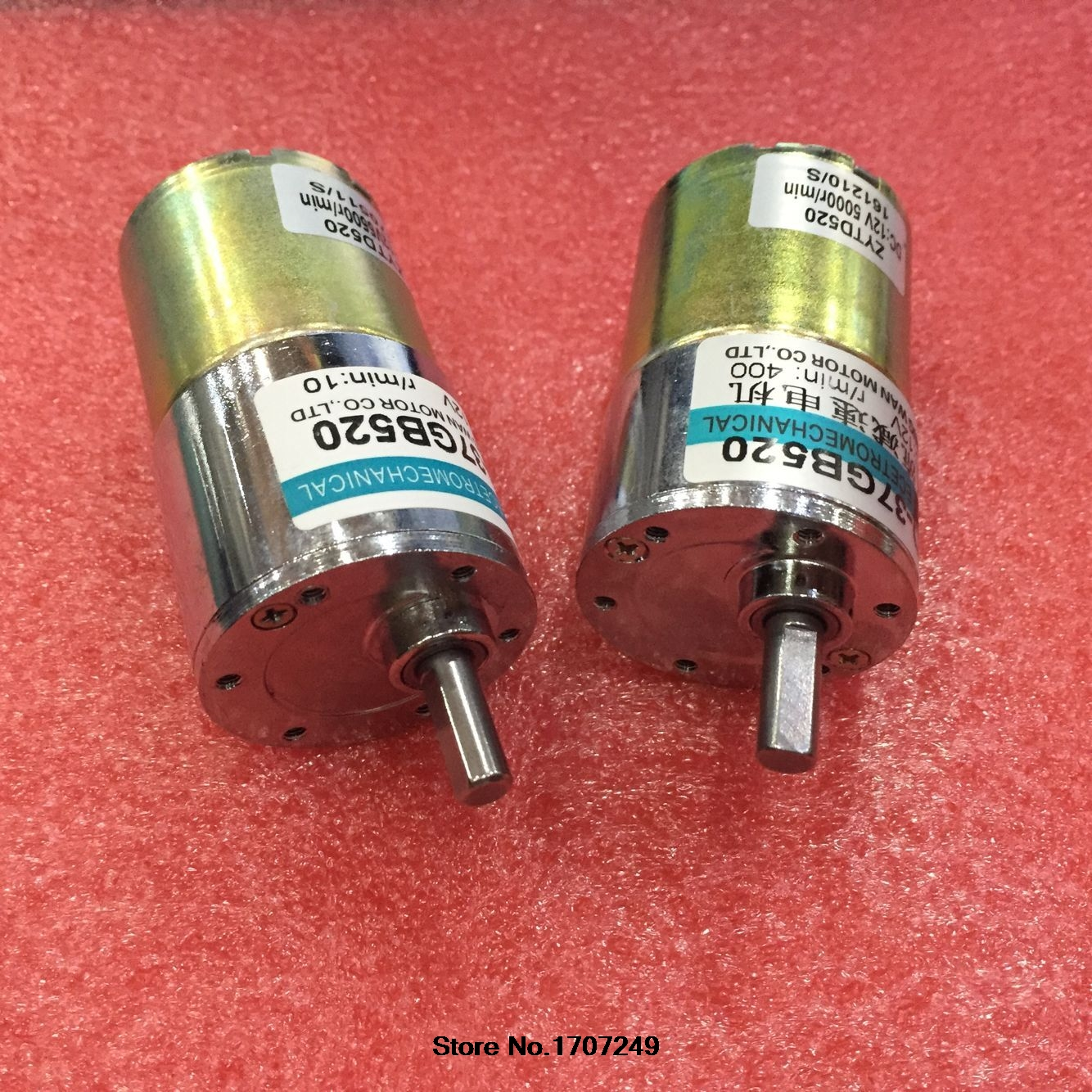 8PCS 12V 24V 10W XD 37GB520 miniature DC geared motor low speed high torque can adjustable