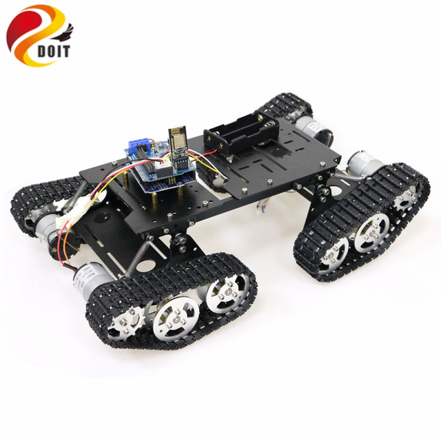 WiFi/Bluetooth/PS2 Control RC 4wd Robot Tank Chassis Kit with UNO R3 Board+ Motor Driver Board for Arduino DIY Robot Tank Chassi