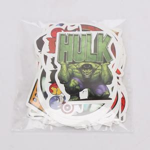 Image 5 - 101pcs/set Marvel Toys Avengers Endgame Stickers Super Hero Hulk Iron Man Spiderman Captain American Car Sticker for Luggage