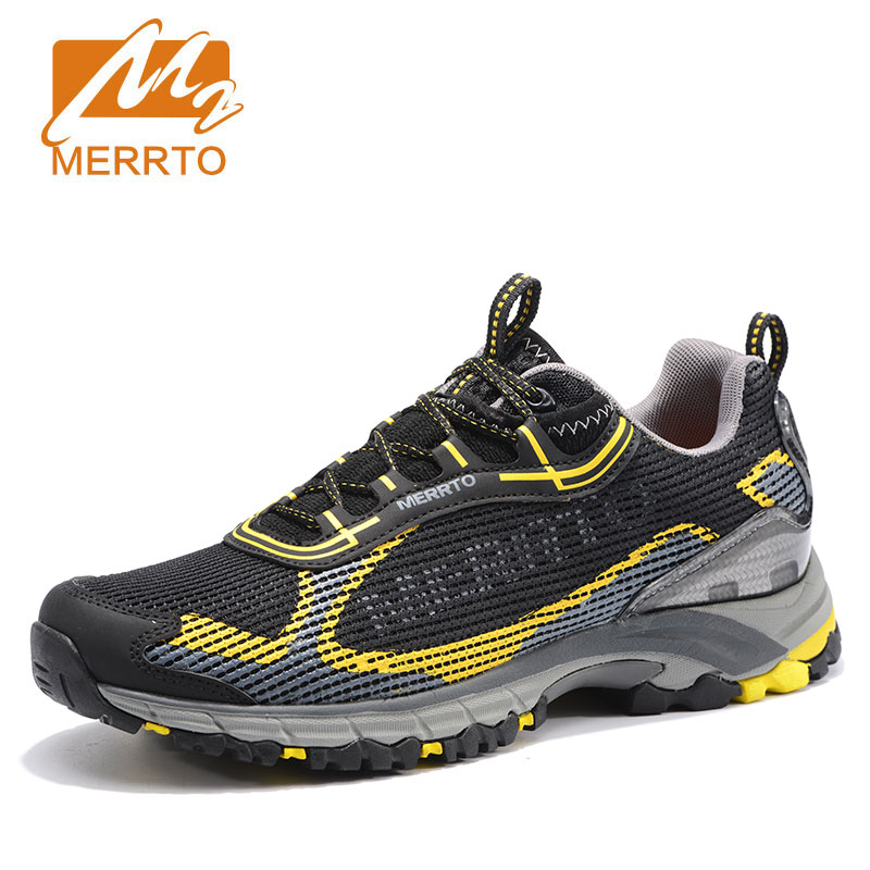 Merrto Men Walking Shoes Breathable Sneaker Lightweight Outdoor Trekking Shoes For Men Breathable Air Mensh Trekking Shoes