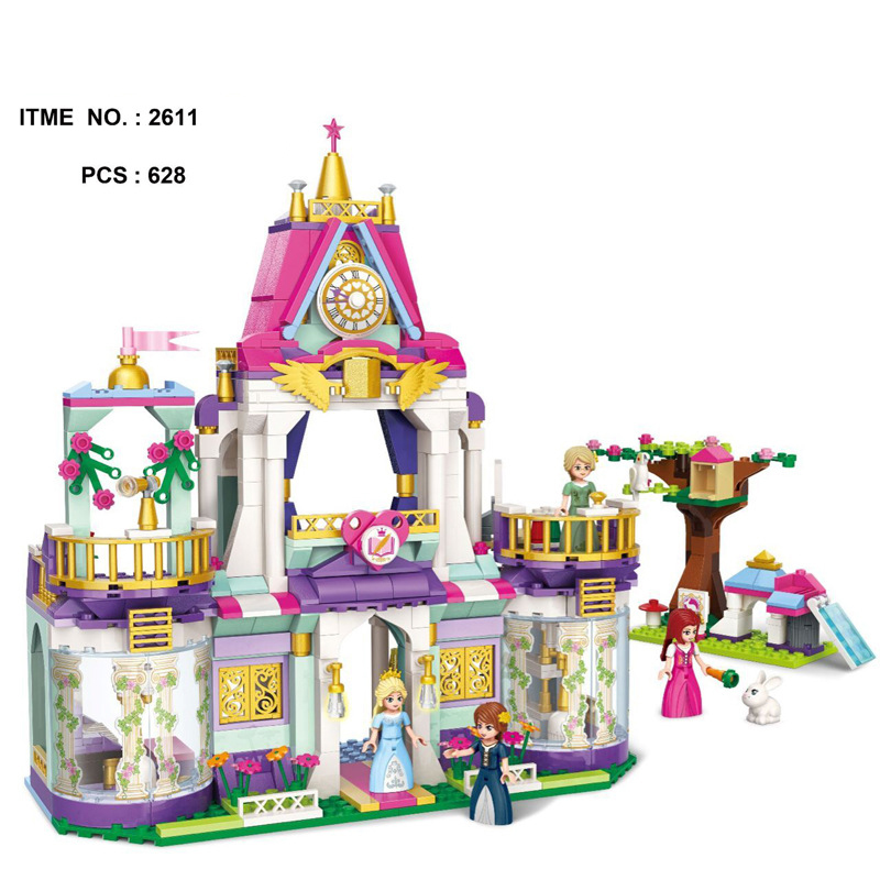 Upgraded Fairy Tale Princess Royal Wisdom School Building Block Students Rabbit Figures Bricks Enlighten Toys for Girls Gifts