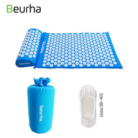 Beurha 2 Colors Yoga Massage Cushion Acupressure Relieve Stress Pain Acupuncture Body Neck Back Foot Massage