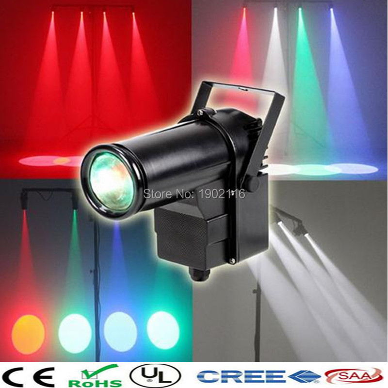 ФОТО 2017 Hot Mini DMX512 stage light RGBW disco beam led pinspot light for DJ party KTV mirror ball pin spot lights spotlight lamps