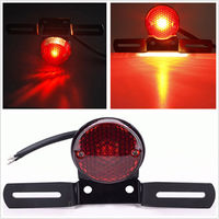 Motorcycle Brake Rear Tail LED Light License Plate Mount Holder Lamp For Motorcycle Harley