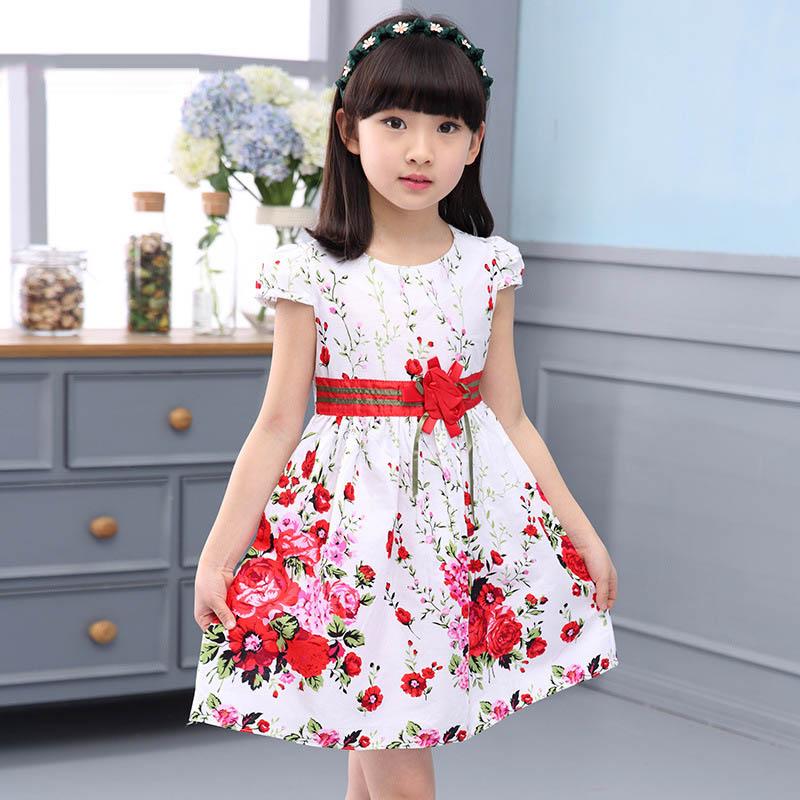 Summer Flower Girl Dresses Short Sleeve Kids Dresses For ...