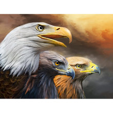"Diamond Painting ""Animal Eagle"" Cross Stitch Full Drill Resin Pattern 5D DIY Diamond Embroidery Mosaic Home Decor YY(China)"