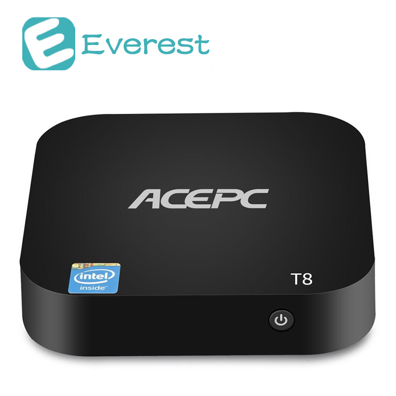 ACEPC T8 tv box Windows 10 Intel Atom x5-Z8350 2GB/32GB 4K Mini PC 802.11b/g/n WiFi LAN Bluetooth USB3.0 HDMI smart tv box beelink z83 ii mini pc tv box with intel atom x5 z8350 processor cpu tv box 2g 32g memory support windows 10 and linux system