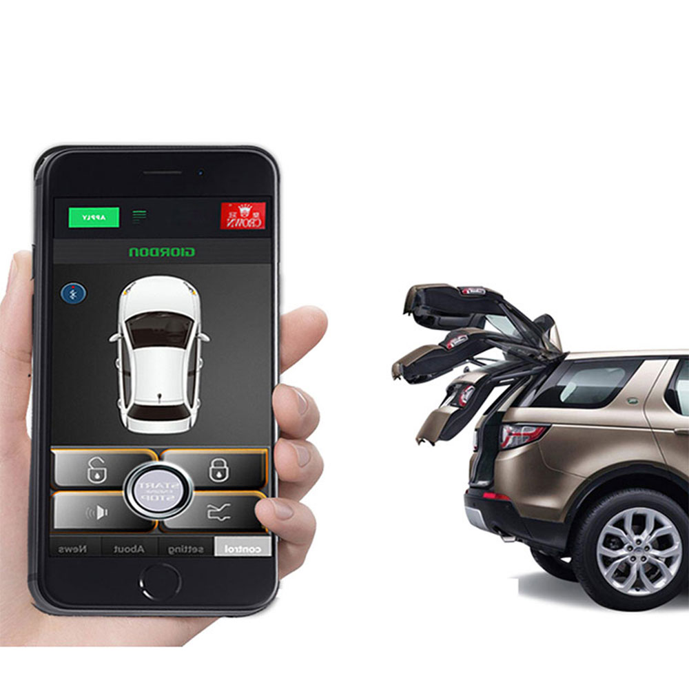 Keyless Entry Central Locking Unlock Auto Car Alarm System Fit For Android Smartphone PKE Push Control