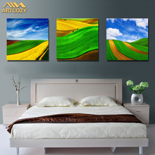Artcozy Decorative 3 Panel For Living Room Canvas Printing Oil Painting Pictures Wall Paint Styles Spray Paint