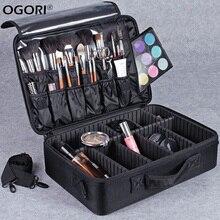 Make-up Kosmetische Aufbewahrungsbox Bürstenhalter 3 Schicht Kosmetische Zug Fall Veranstalter Tasche Für Bh Unterwäsche Wasserdichten Behälter