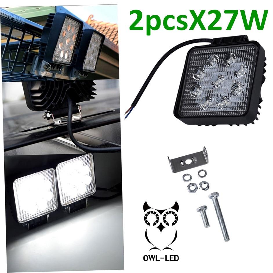 27 Вт светодиодный свет 12 В 24 IP67 Наводнение туман свет Off Road ATV Трактор Поезд Автобус прожектор лодки ATV UTV днем Бег свет