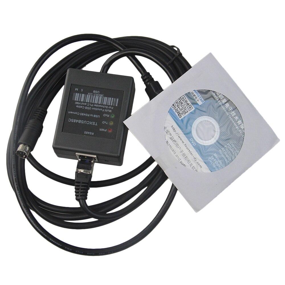 цена на TSXCRJMD25 +TSXCUSB485 Programming Cable Replace TSXPCX3030 For Schneider Micro Premium Twido PLC HMI RJ45
