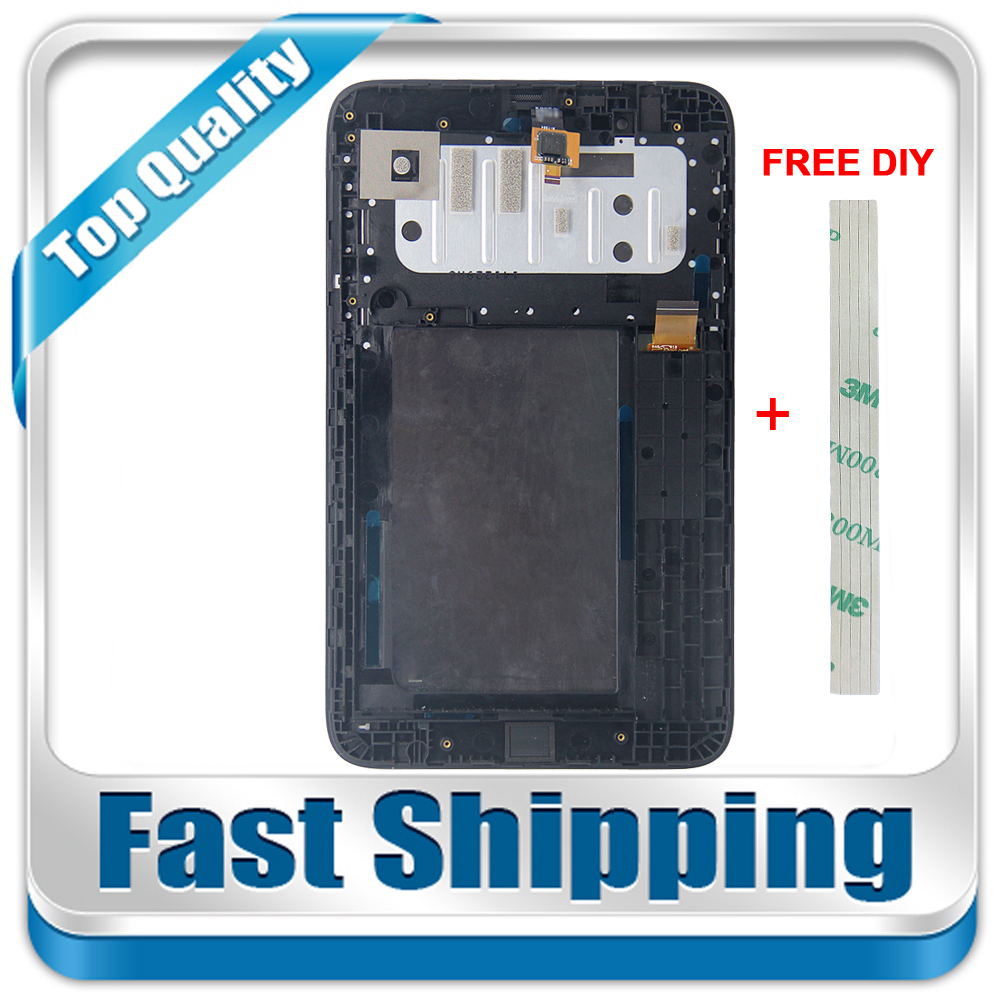 New For Lenovo Tab A7-30 A3300 A3300T A3300-GV A3300-HV Replacement LCD Display Touch Screen+Frame Assembly 7-inch Black srjtek parts for lenovo a3300 a3300t a3300 hv lcd display touch screen digitizer panel monitor assembly with frame replacement