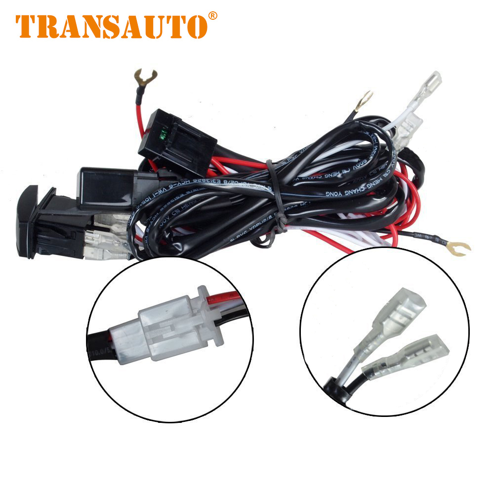 Wiring harness kit loom for led work driving light bar