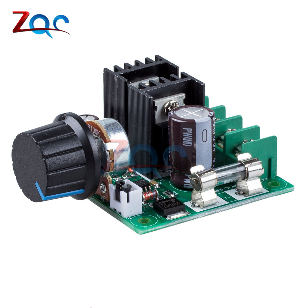 black DC 12V~40V 10A PWM Motor Speed Control Switch Governor Color Green