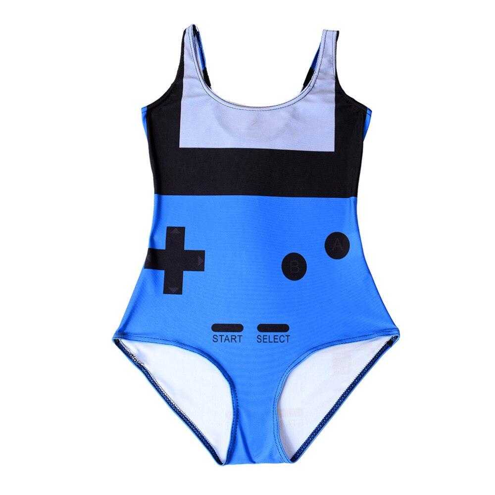 vendita calda bagno personalizzato vestito sexy tuta gamer costume da bagno blu stampa digitale stampa swimwear plus size women