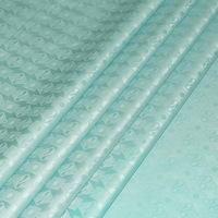 Wholesales Retail Damask High Quality Cotton Mint Green Bazin African Garment Fabric Guinea Brocade Free Shipping