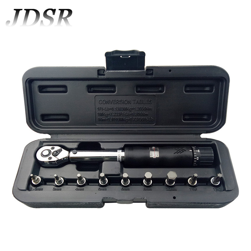 JDSR 1/4 High Precision Preset Torque Wrench Set Type Torque Metric Screwdriver Socket Torque Wrench Ratchet Wrench Hand Tools 1 3n m portable preset torque screwdriver sundoo srt 3