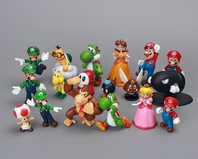 18 Unids Set Super Mario Bros Unidades 1 2 5 Yoshi Dinosaurio