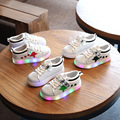 New Baby Boys Girls Glowing Sneakers PU Leather Children Shoes With Lights Kids Led Flashing Shoes Toddler