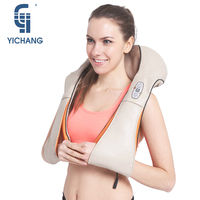 YICHANG Massage for Neck Massager Four Colors PU Leather Electrical Shiatsu back Massagers Electric Shoulder Massages