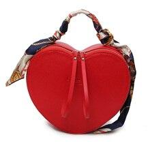 Mini moda Lolita Totes Bolsos de Mujer Bolsos de Diseño de Cuero de LA PU de Lujo En Forma de Corazón Bufanda Bolsa De Mango Bolsa de Hombro Crossbody P109
