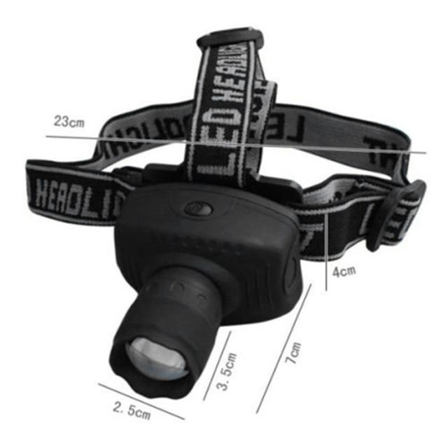 Waterproof Outdoor Camping 3W Ultra Bright LED Headlight ABS Energy Saving Headlamp Night Fishing Head Torch LED Flashlights