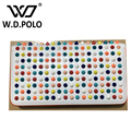 W.D.POLO New color rock stud women genuine leather wallet high chic brand design lady standard wallets easy clutch hand bagM2602