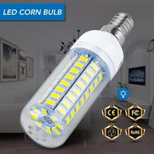 E14 Corn Bulb E27 LED Lamp GU10 220V Lampada LED Light Bulb B22 24 36 48 56 69 72LEDs Lighting 5730SMD Chandelier Candle Light e27 corn bulb gu10 led 220v bulb b22 bombillas led lamp e14 chandelier candle light 24 36 48 56 69 72leds home lighting 5730smd