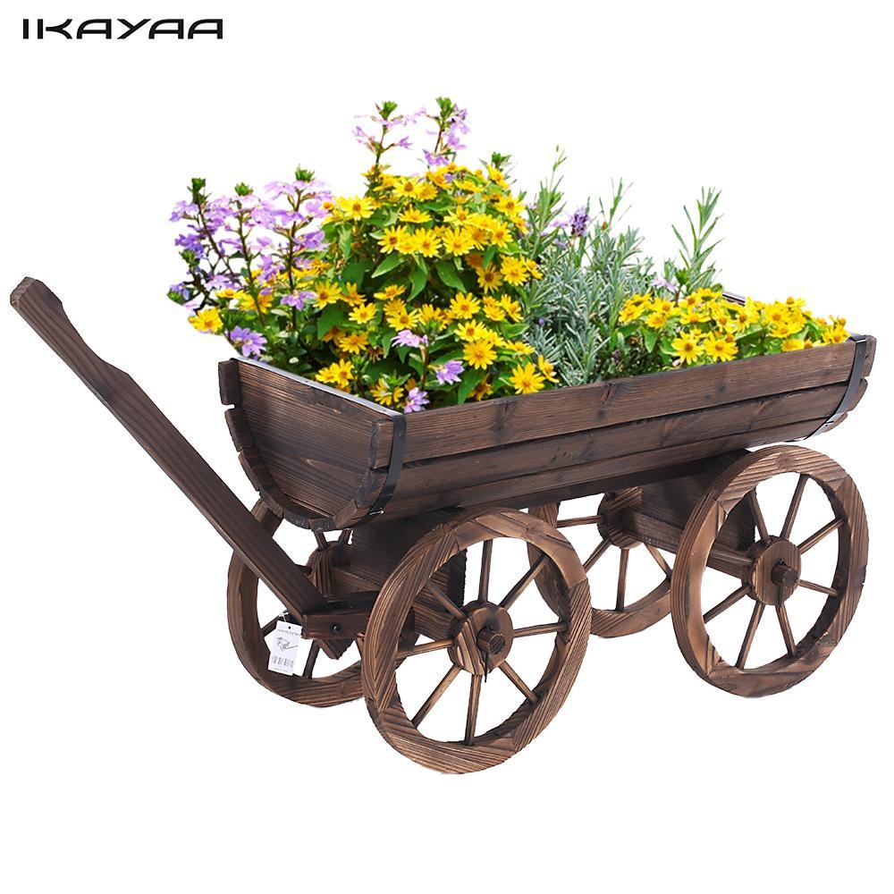 Wheels Flower Planting Pot Home  Outdoor Decoration Patio