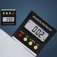 360Degree Digital Inclinometer Protractor Electronic Level Box Angle Finder Measure Bevel Box Goniometer Magnet Base Angle Gauge