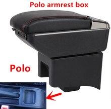 Для Volkswagen Polo подлокотник коробка поло V Универсальный 2009-2018 автомобилей центральной консоли Модификация аксессуары двойной поднял с USB