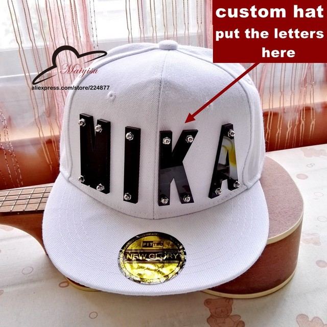Hiphop crystal acrylic letter custom logo products Adjustable Baseball Cap  snapback hats wholesale custom flat brim hats 1621e592b86