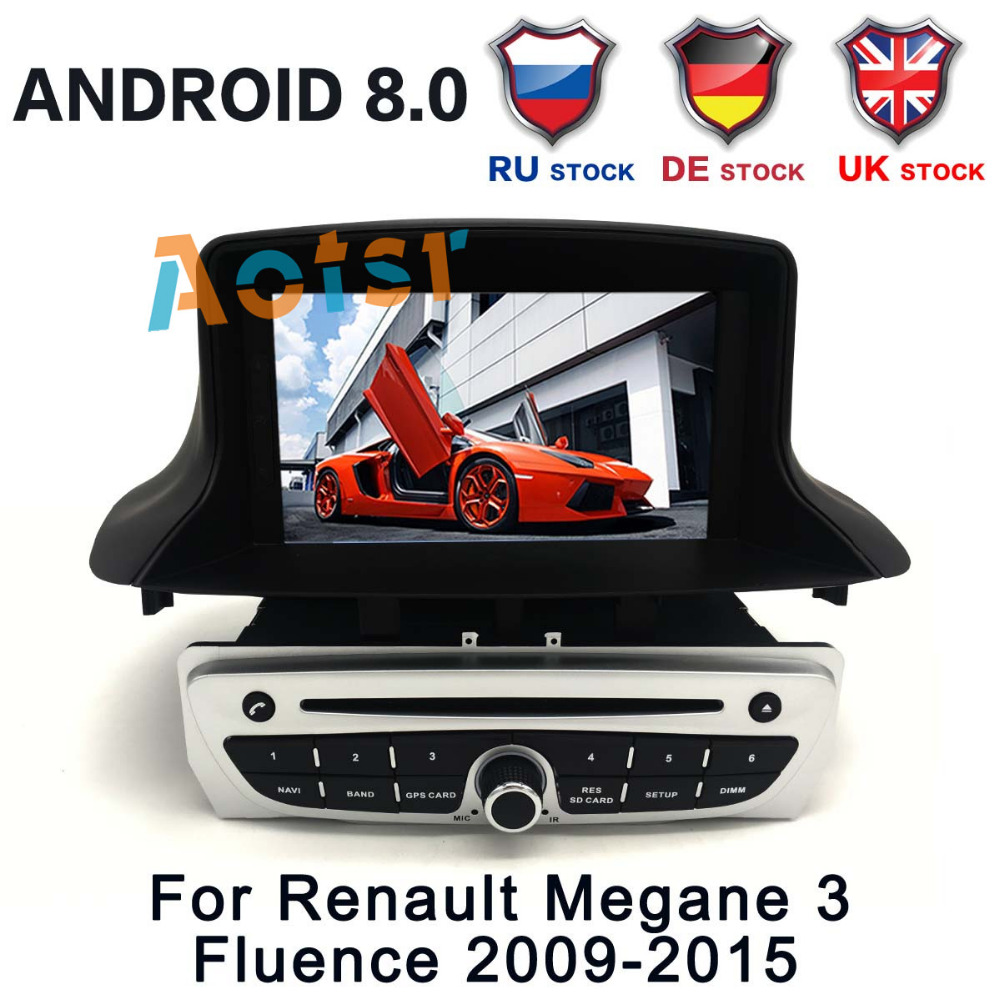 <font><b>Android</b></font> 8.0 4GB RAM <font><b>Android</b></font> 7 Car DVD Player for Renault <font><b>Megane</b></font> <font><b>3</b></font> Fluence 2009-2015 Car GPS Radio car stereo unit GPS navigation image
