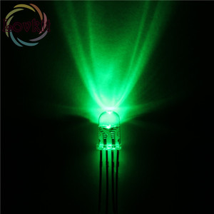 Image 5 - 50 قطعة/الوحدة عالية الجودة 5 مللي متر شفافة Connon الأنود والكاثود الأحمر الأخضر الأزرق RGB LED 4 دبابيس ثنائيات ثلاثية اللون