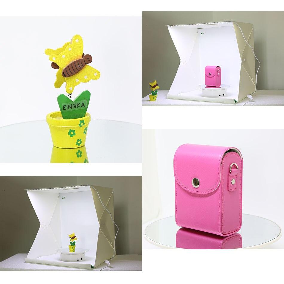 40*40*40 cm Portable Pliant Studio Boîte à Lumière Photographie Studio Pliable Softbox avec Noir/blanc Arrière-Plan doux Boîte Lightbox