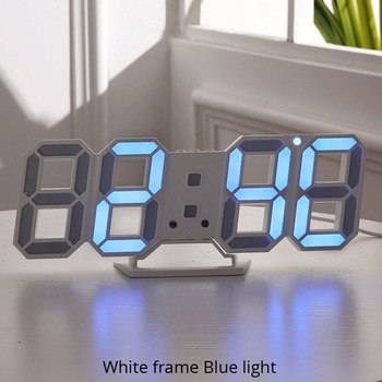 3D LED Wall Clock Modern Design Digital Table Clock Alarm Nightlight Saat reloj de pared Watch For Home Living Room Decoration 15