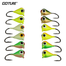 Goture 12pcs 1g 1.4cm Winter Fishing Lure Ice Fishing Jig Fake Artificial Bait Fishing Tackle