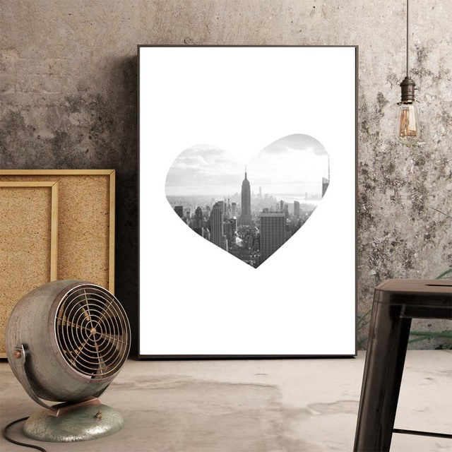 Gallery Of Affordable Leinwand Kunst Malerei Poster Schwarz Wei New York  City Wall Bild Fr Bro Wohnzimmer With New York Poster Schwarz Wei With Bro  Schwarz ...