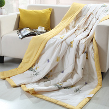 New 100% cotton fabric Summer quilt Cool thin Comfortable filling Can Machine washable Home textiles for Adult Child Bed