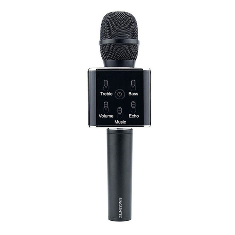 BINSENTEC Q7 Magic Karaoke Microphone Phone KTV Player Wireless Condenser Bluetooth MIC Speaker Record Music For Iphone Android