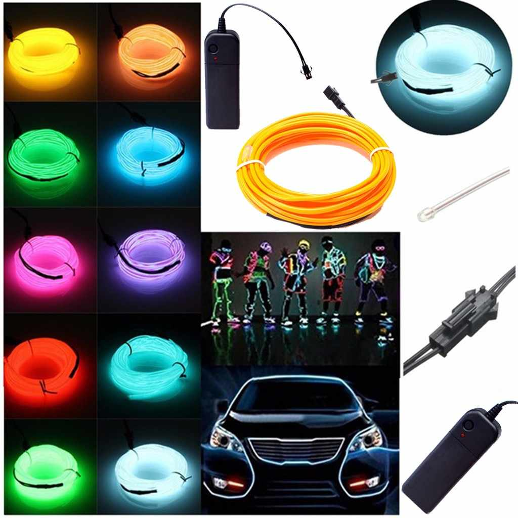 Flessibile Luce Al Neon del LED Raggiante EL Striscia Filo Auto Tubo di Danza Decorazione Del Partito Per La bmw X5 X1 X3 Per volvo xc90 xc70 v70 v50 3.4