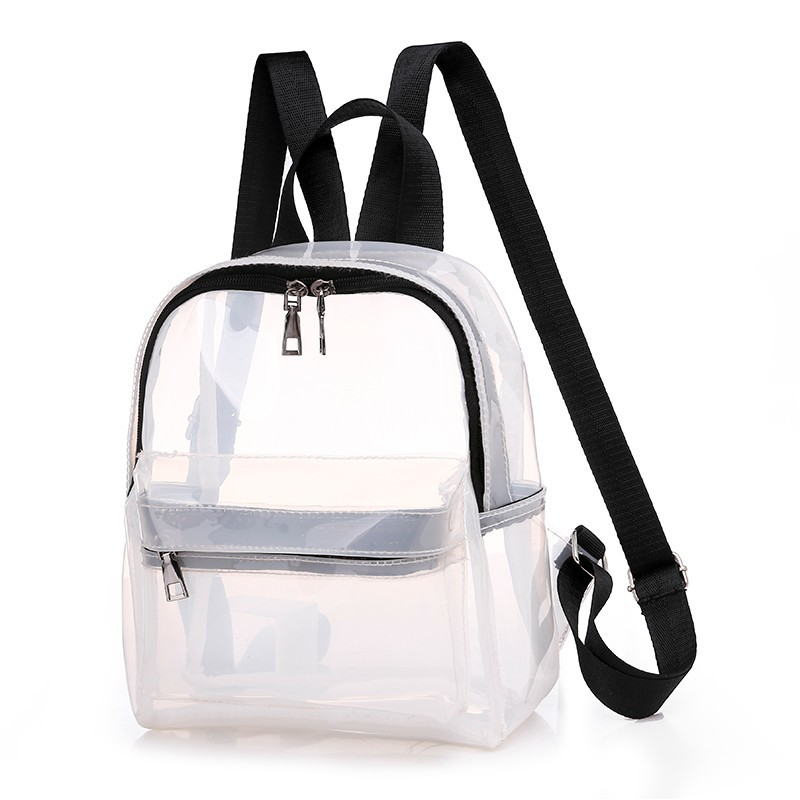 2019 Women Pvc Transparent Backpacks For Girls Sac A Dos Female Back Pack School Bags For Girls Mochilas Casual Daypack Backpack