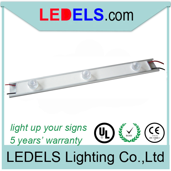 10pcs/lot,UL CE ROHS,9w high power led sign lighting edge lit led light bar for outdoor light box