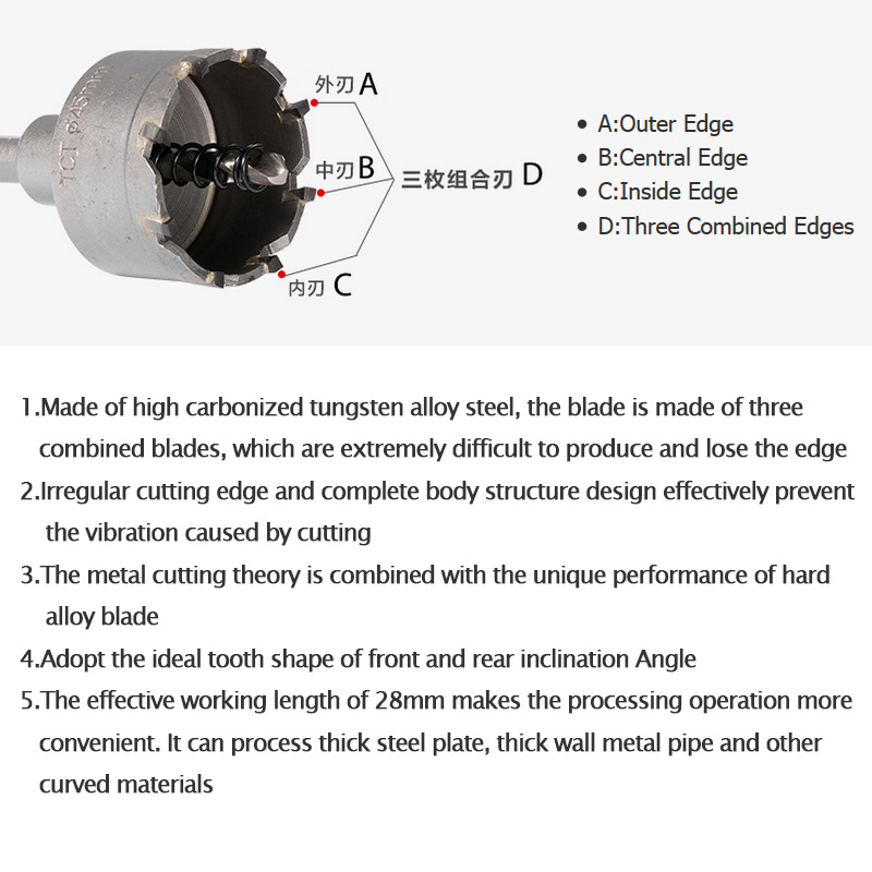 Free Shipping 16 65mm Core Drill Bit Metal Hole Saw Drill Bit for Steel Metal Alloy Cutter Multi tool in Drill Bits from Tools
