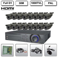 16CH 16 Channel CCTV Final Sequence 1000TVL D1 H.264 Surveillance DVR System